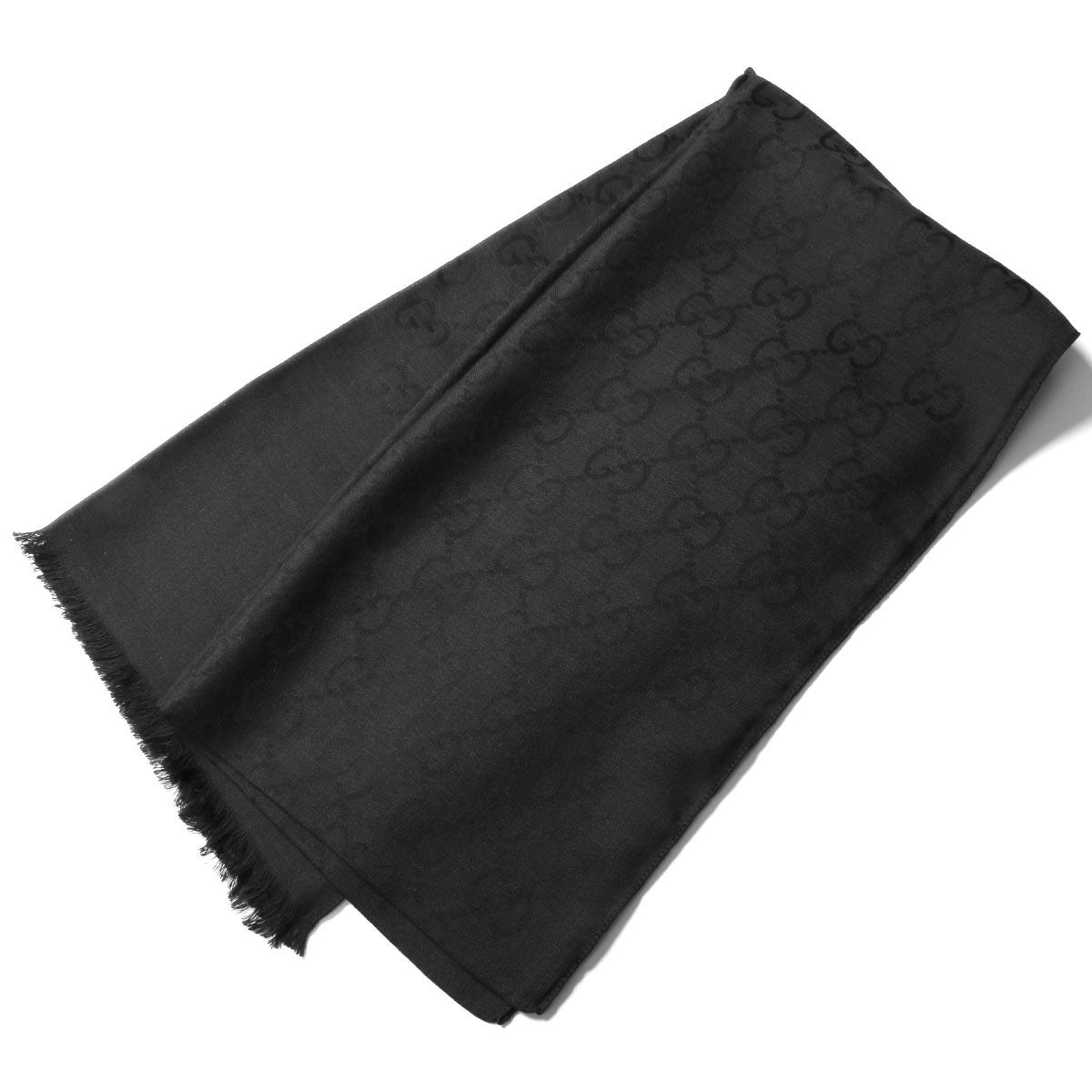 グッチ ストール/スカーフ メンズ レディース GGウール ブラック 165904 3G646 1000 GUCCI