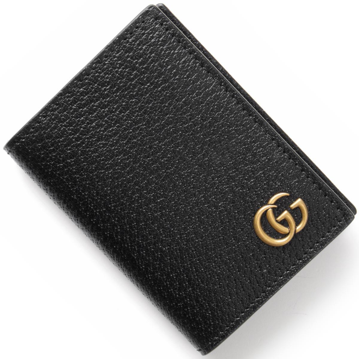 グッチ カードケース メンズ レディース GGマーモント 【MARMONT】 ブラック 428737 DJ20T 1000 GUCCI