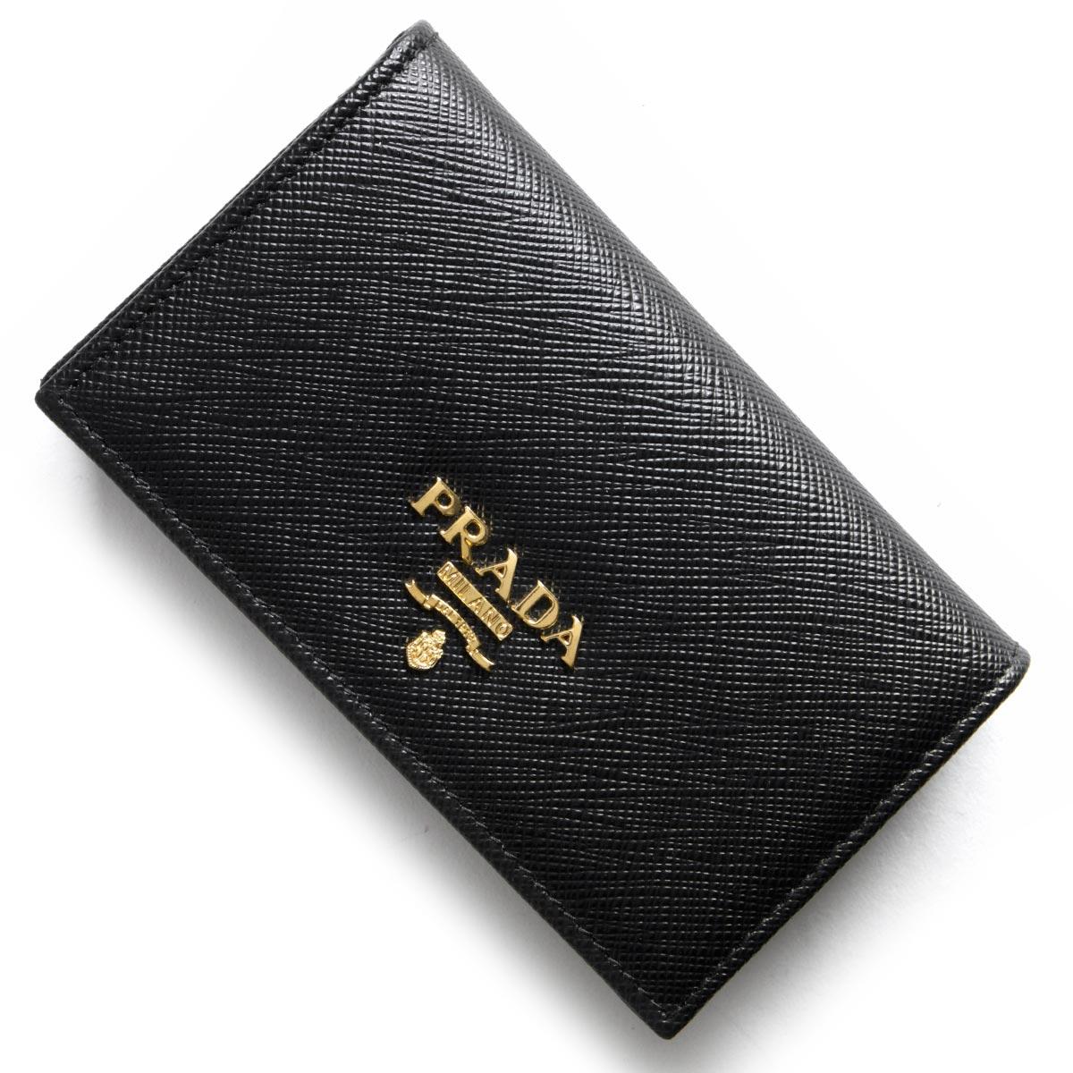 プラダ カードケース レディース サフィアーノ メタル SAFFIANO METAL ブラック 1MC122 QWA F0002 PRADA