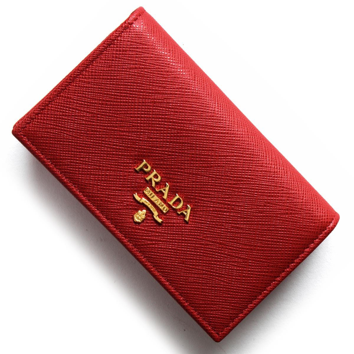 プラダ カードケース レディース サフィアーノ メタル SAFFIANO METAL フォーコレッド 1MC122 QWA F068Z PRADA