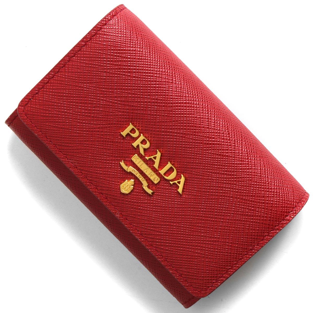プラダ カードケース/名刺入れ/コインケース レディース サフィアーノ メタル フォーコレッド 1MH027 QWA F068Z PRADA