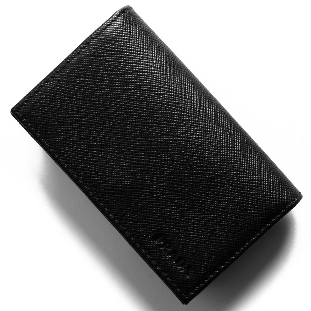 プラダ カードケース メンズ レディース サフィアーノ ブラック 2MC122 PN9 F0002 PRADA