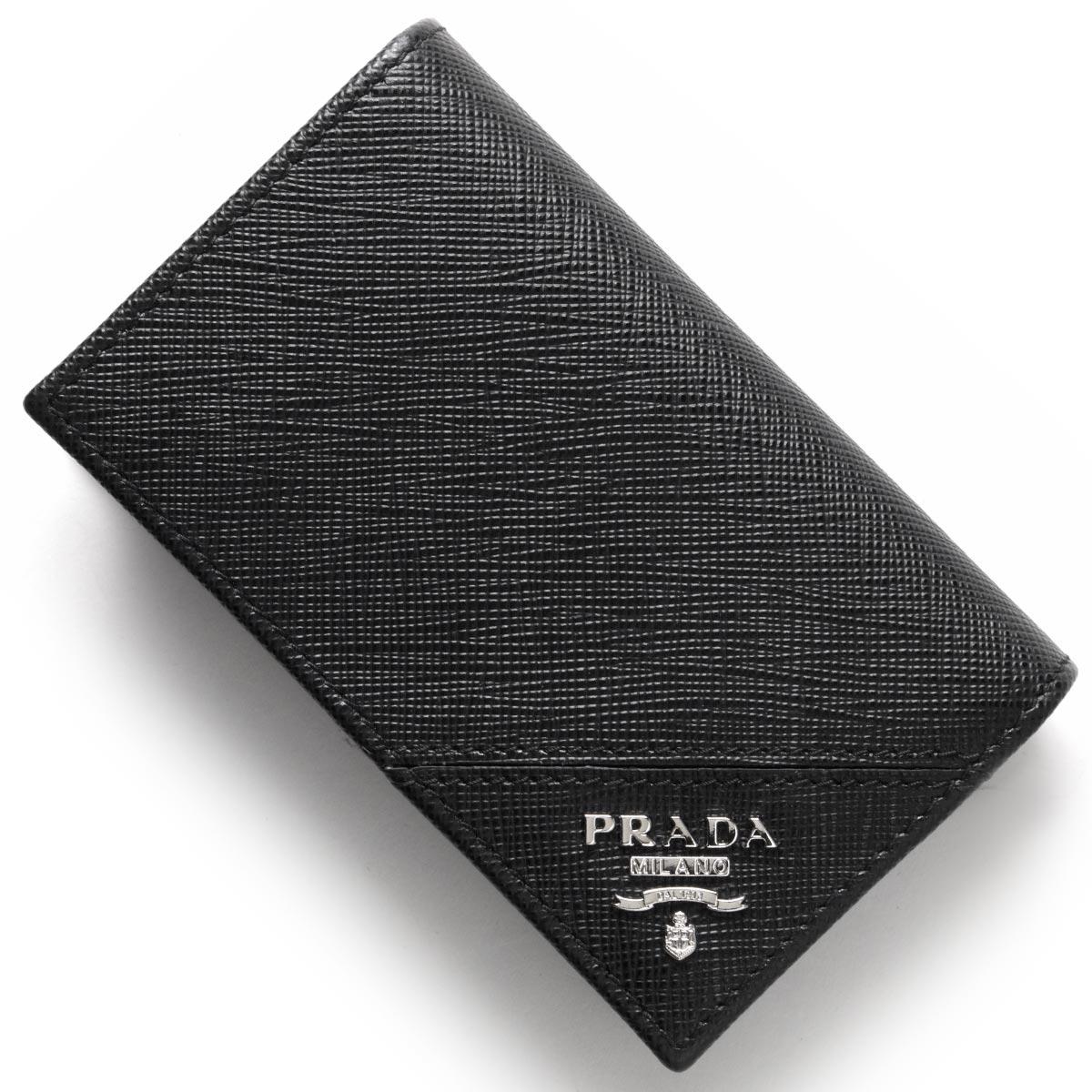 プラダ カードケース メンズ レディース SAFFIANO METAL ブラック 2MC122 QME F0002 PRADA
