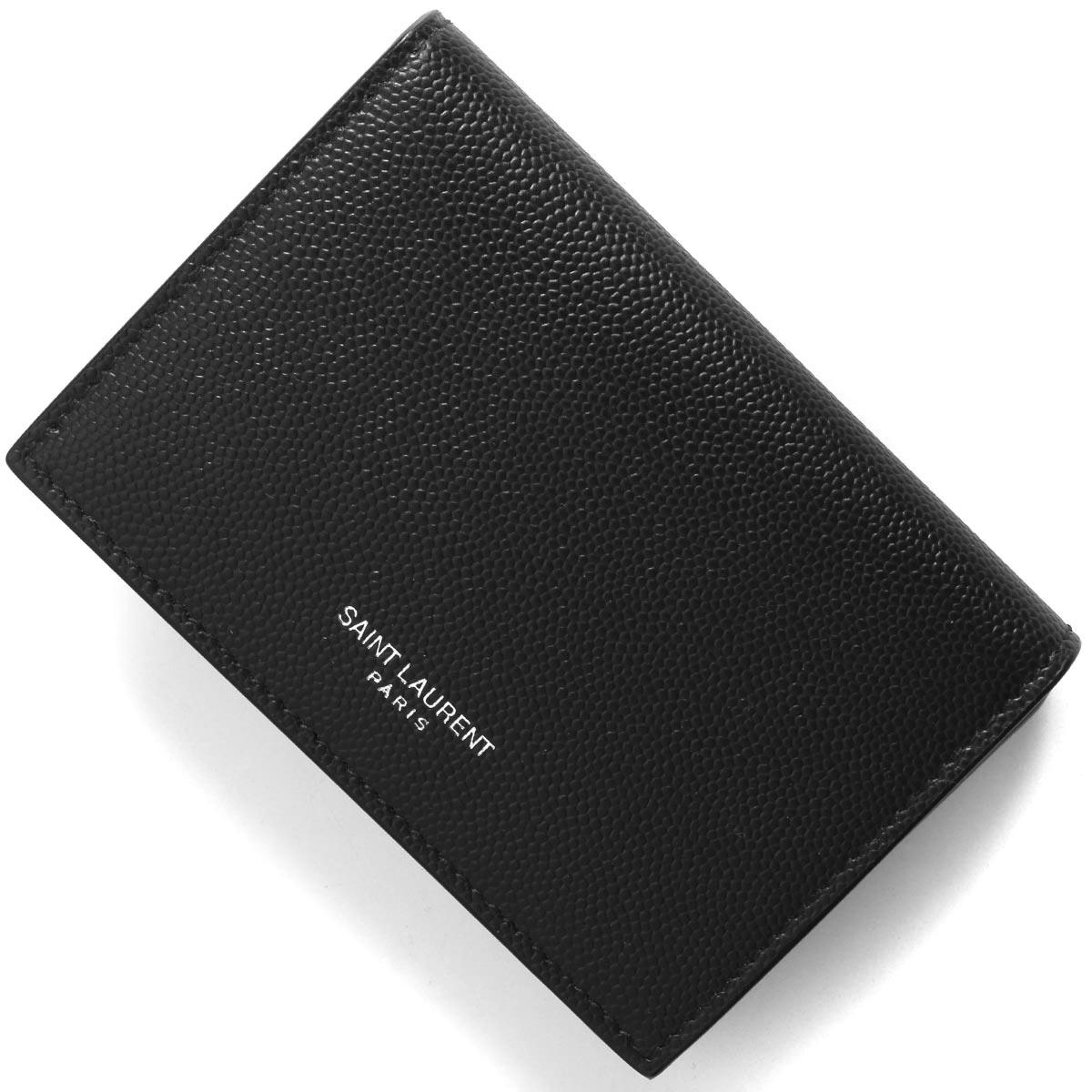 あす楽送料無料 サンローランパリ イヴサンローラン カードケース 名刺入れ メンズ レディース クラシック 469338 特価キャンペーン SAINT 1000 ブラック 2021年春夏新作 PARIS BTY7N LAURENT セール品