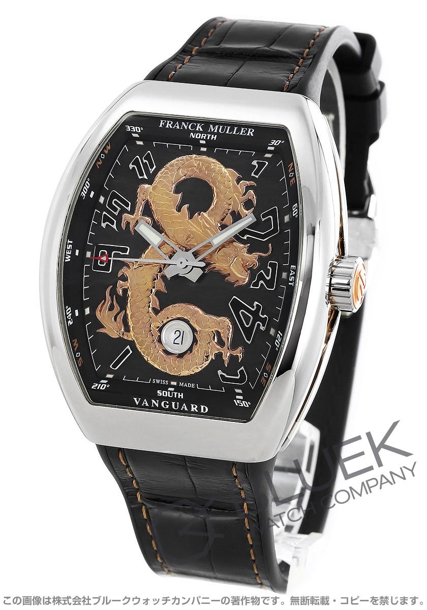 フランクミュラー ヴァンガード ゴールドドラゴン 世界限定88本 クロコレザー 腕時計 メンズ FRANCK MULLER V 45 SC DT STG AC 5N GOLD DRAGON[FMV45SCGDPLSSBKPGLZBK]