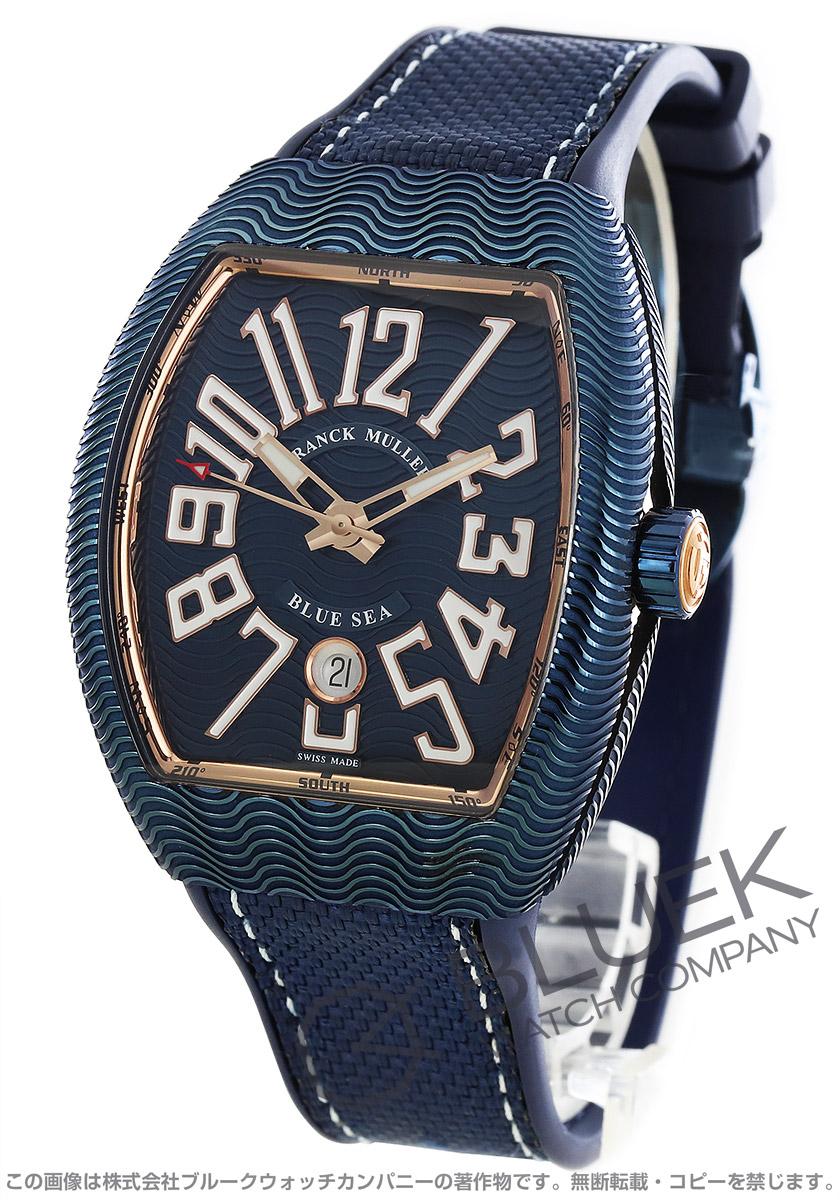 フランクミュラー ヴァンガード ブルーシー 腕時計 メンズ FRANCK MULLER V 45 SC DT AC BL 5N BLUE SEA[FMV45SCBSPLSSPGBLHYBL]
