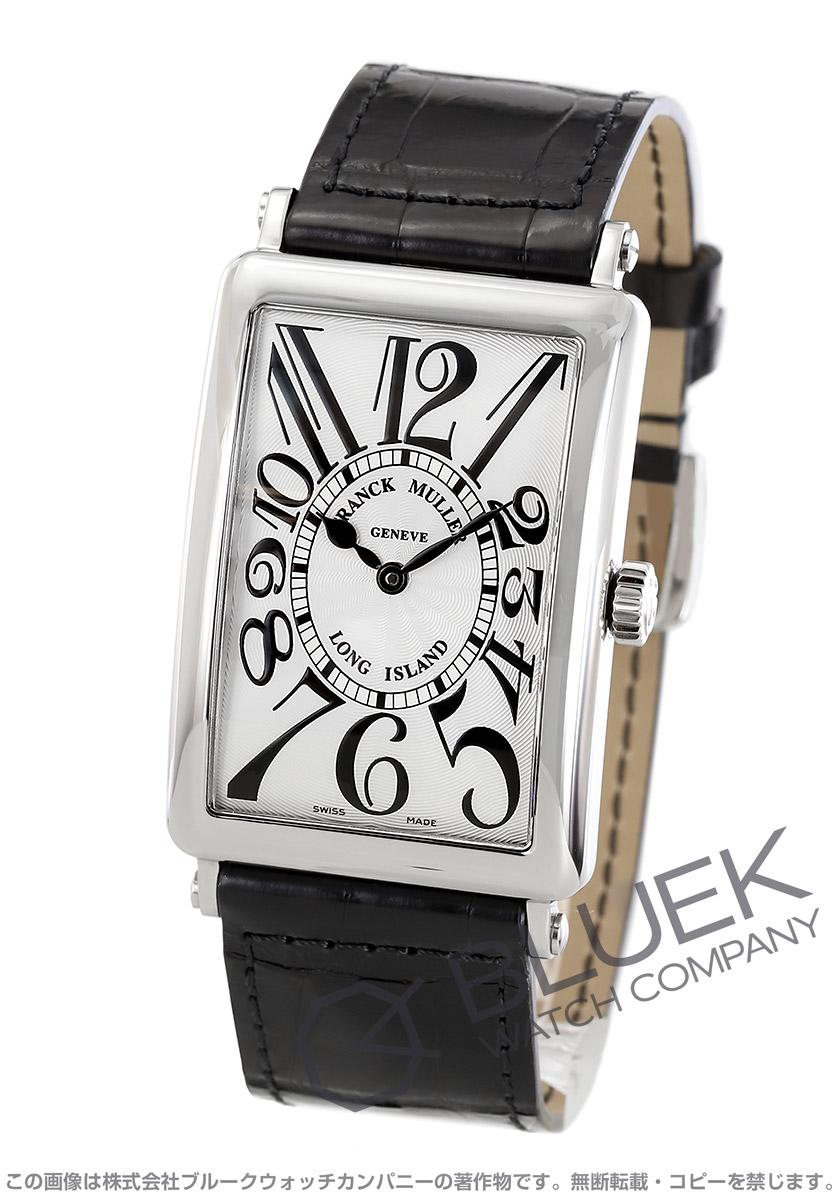 フランクミュラー ロングアイランド クロコレザー 腕時計 メンズ FRANCK MULLER 1000 SC[FM1000SCSSSLENBK]