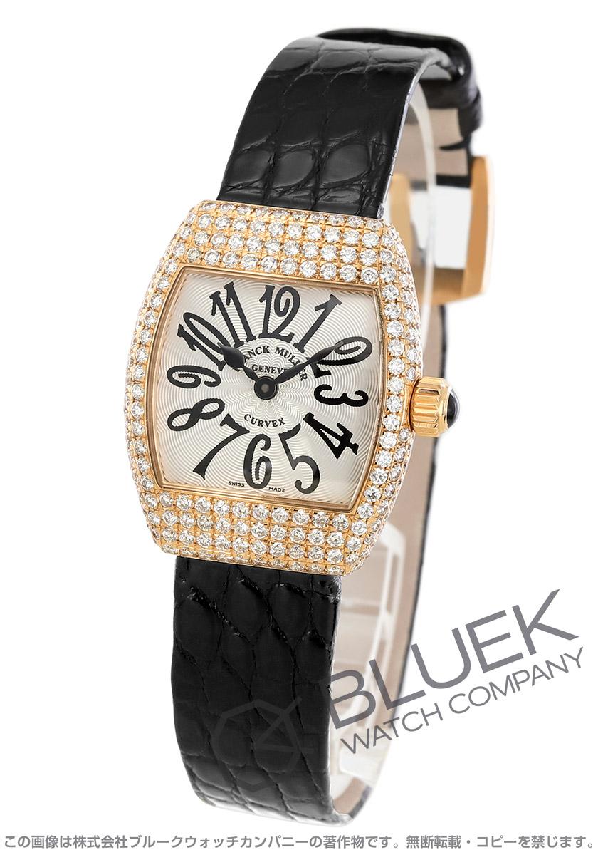 フランクミュラー グレイスカーベックス ダイヤ PG金無垢 クロコレザー 腕時計 レディース FRANCK MULLER 2267 QZ D[FM2267QZ4DPGSLENBK]