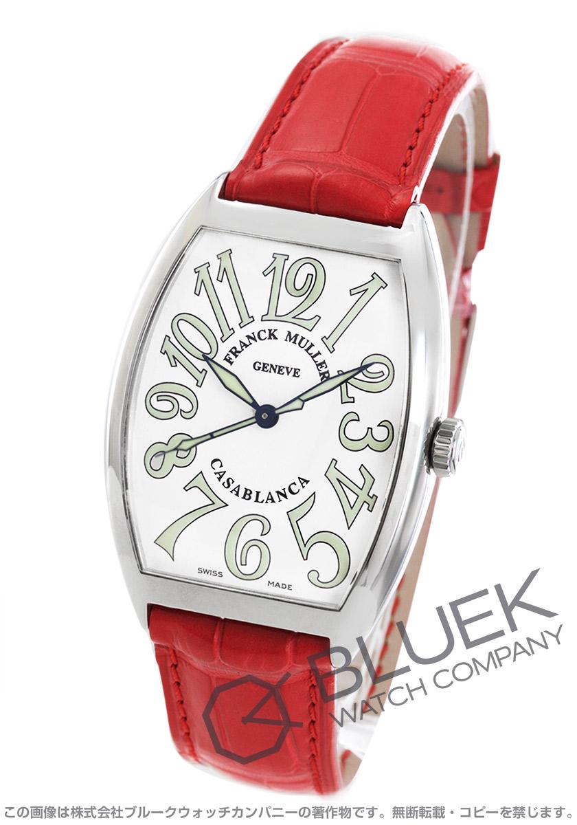 フランクミュラー カサブランカ クロコレザー 腕時計 メンズ FRANCK MULLER 6850 B C[FM6850SCCASSWHLZRDCR]