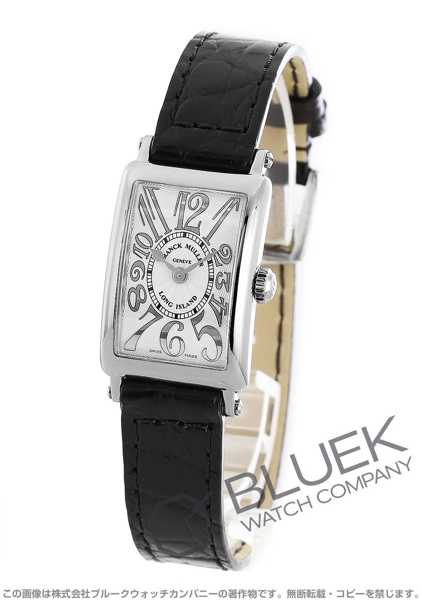 フランクミュラー ロングアイランド プティ レリーフ クロコレザー 腕時計 レディース FRANCK MULLER 802 QZ REL[FM802QZSSSLENBKR]