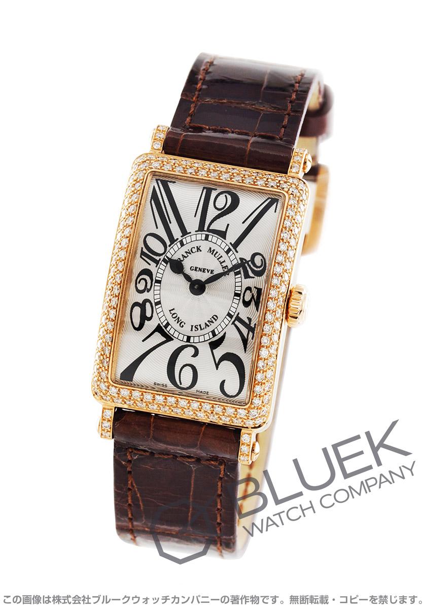 フランクミュラー ロングアイランド ダイヤ PG金無垢 クロコレザー 腕時計 レディース FRANCK MULLER 902 QZ D[FM902QZ2DPGSLENBR]
