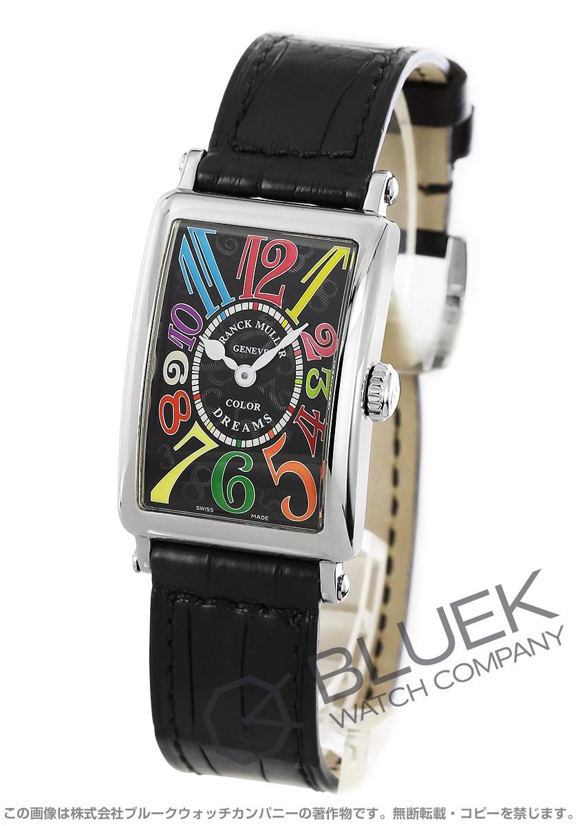 フランクミュラー ロングアイランド カラードリーム クロコレザー 腕時計 レディース FRANCK MULLER 902 QZ COL DRM[FM902QZCDSSBKLZBK]
