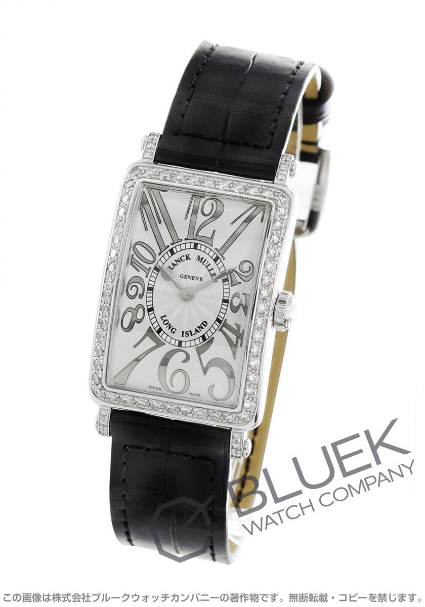 フランクミュラー ロングアイランド レリーフ ダイヤ クロコレザー 腕時計 レディース FRANCK MULLER 902 QZ REL D 1R[FM902QZDSSSLLZBKR]