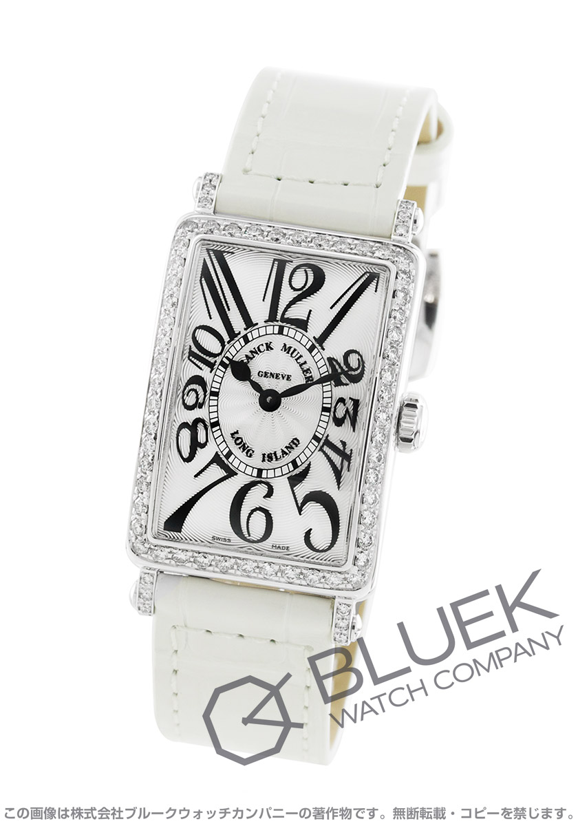 フランクミュラー ロングアイランド ダイヤ クロコレザー 腕時計 レディース FRANCK MULLER 902 QZ D 1R[FM902QZDSSSLLZWH]