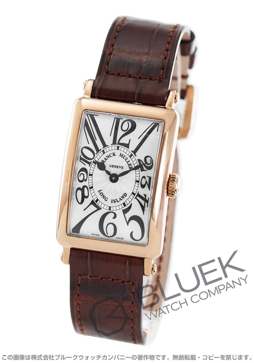 フランクミュラー ロングアイランド PG金無垢 クロコレザー 腕時計 レディース FRANCK MULLER 902 QZ[FM902QZPGSLLZBR]