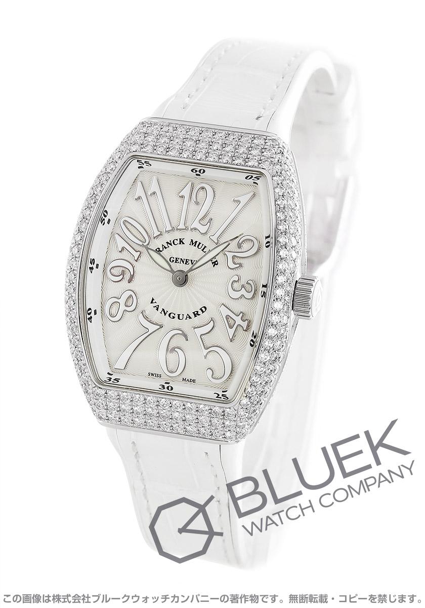 フランクミュラー ヴァンガード レディ ダイヤ クロコレザー 腕時計 レディース FRANCK MULLER V32 QZ D AC BC[FMV32QZ3DSSWHLZWH]