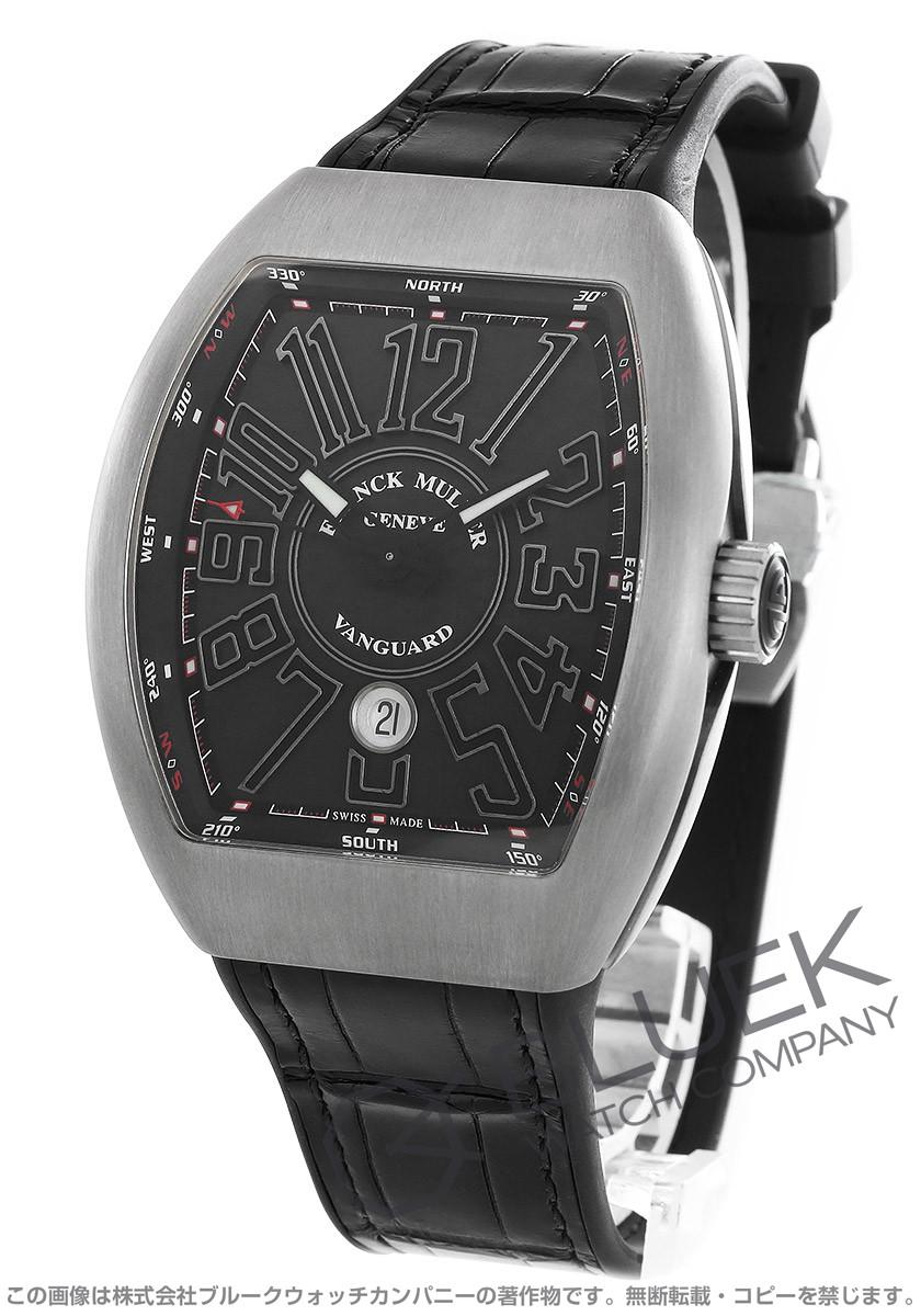 フランクミュラー ヴァンガード クロコレザー 腕時計 メンズ FRANCK MULLER V 45 SC DT TT BR NR[FMV45SCTIBKLZBK]