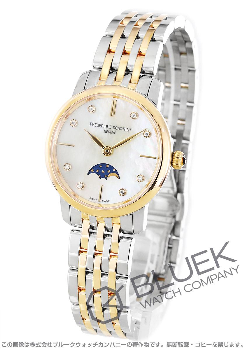 フレデリックコンスタント スリムライン ムーンフェイズ ダイヤ 腕時計 レディース FREDERIQUE CONSTANT 206MPWD1S3B