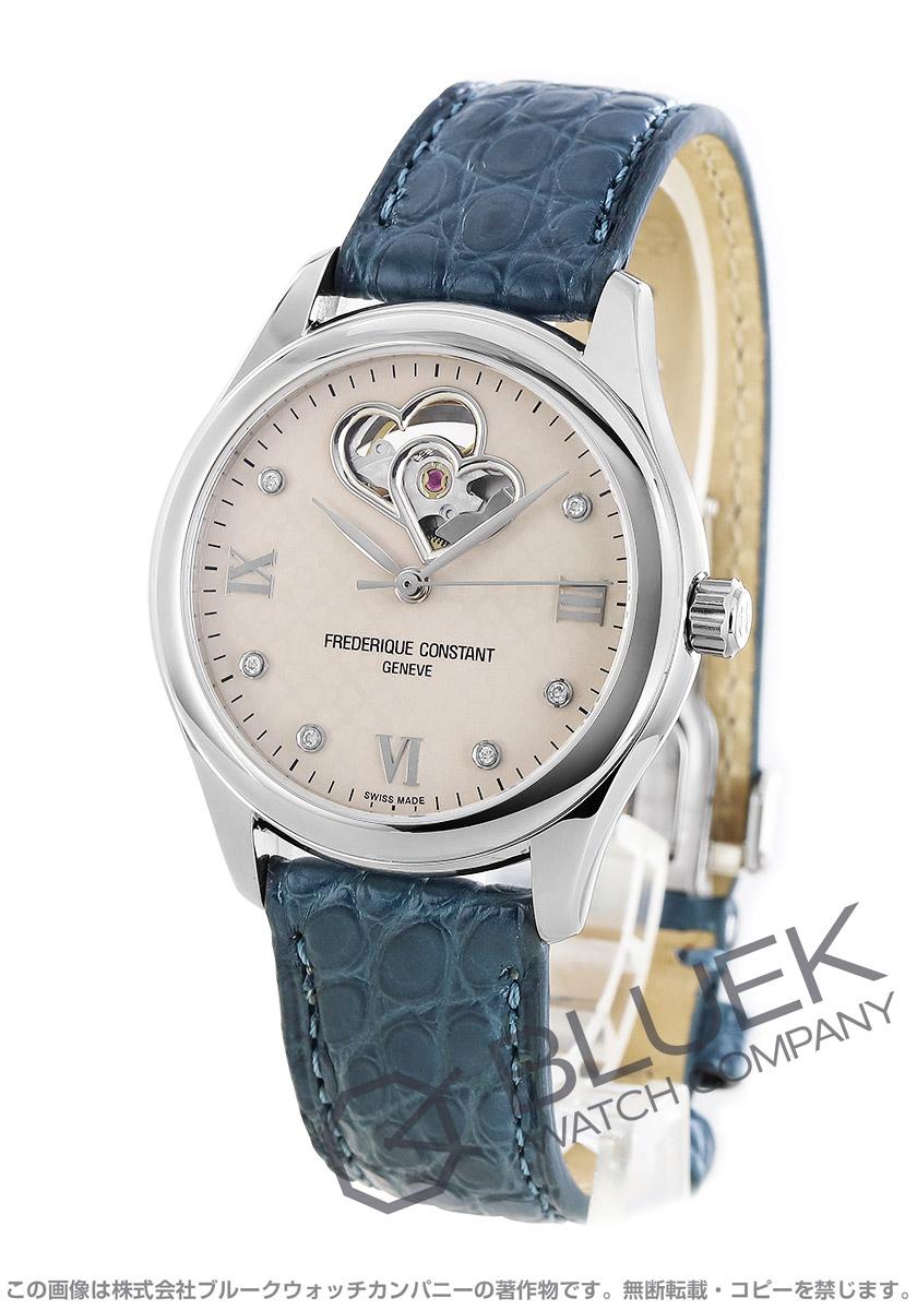フレデリックコンスタント ダブル ハートビート ダイヤ アリゲーターレザー 腕時計 レディース FREDERIQUE CONSTANT 310LGDHB3B6