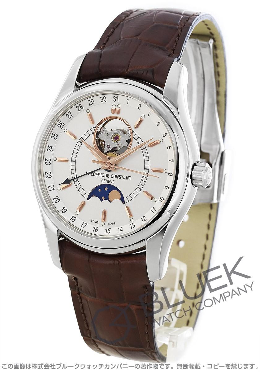 フレデリックコンスタント クラシック インデックス ムーンタイマー ハートビート ムーンフェイズ 腕時計 メンズ FREDERIQUE CONSTANT 335V6B6