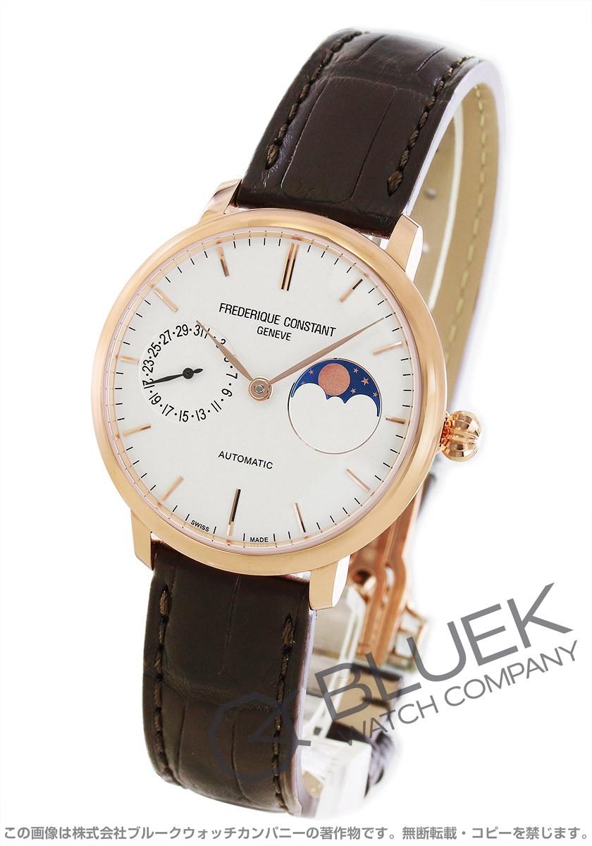 フレデリックコンスタント マニュファクチュール スリムライン ムーンフェイズ アリゲーターレザー 腕時計 メンズ FREDERIQUE CONSTANT 702V3S4