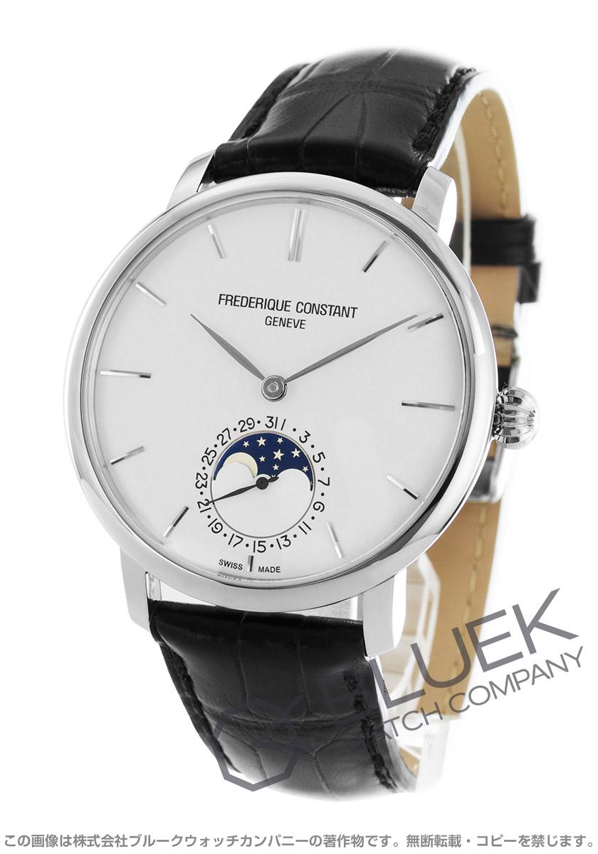 フレデリックコンスタント マニュファクチュール スリムライン ムーンフェイズ アリゲーターレザー 腕時計 メンズ FREDERIQUE CONSTANT 705S4S6