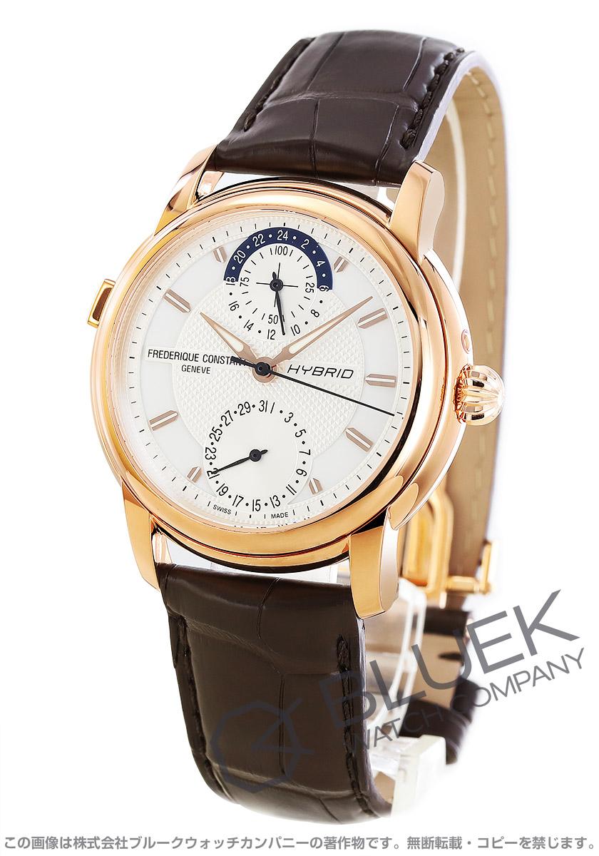 フレデリックコンスタント ハイブリッド マニュファクチュール アリゲーターレザー 腕時計 メンズ FREDERIQUE CONSTANT 750V4H4