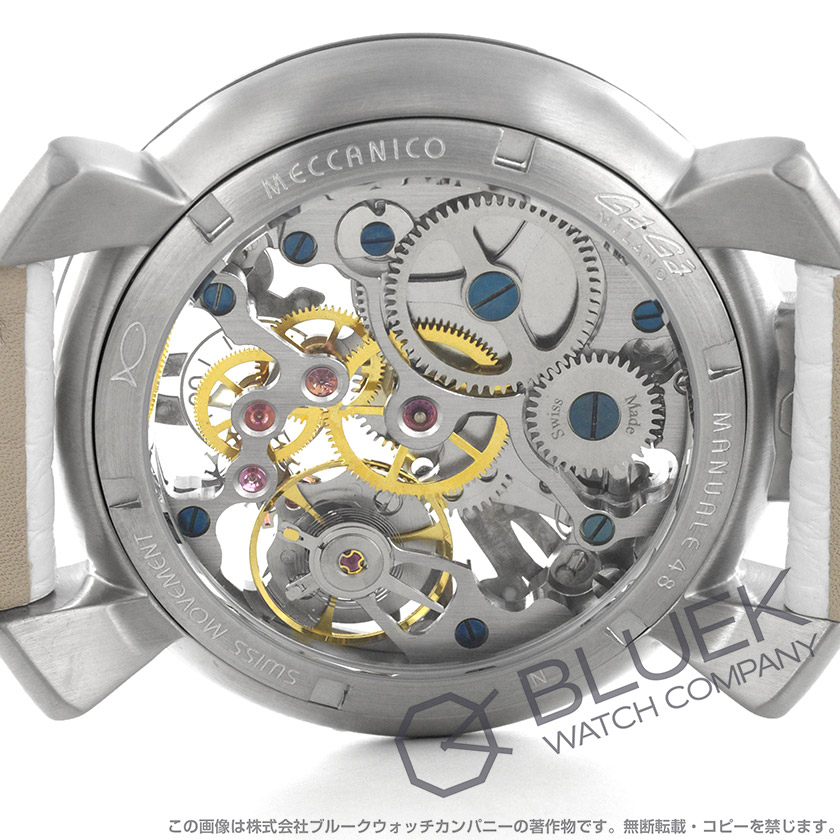 official photos d226d fa97b 5310.01S MILANO GaGa メンズ 腕時計 スケルトン マヌアーレ48MM ...