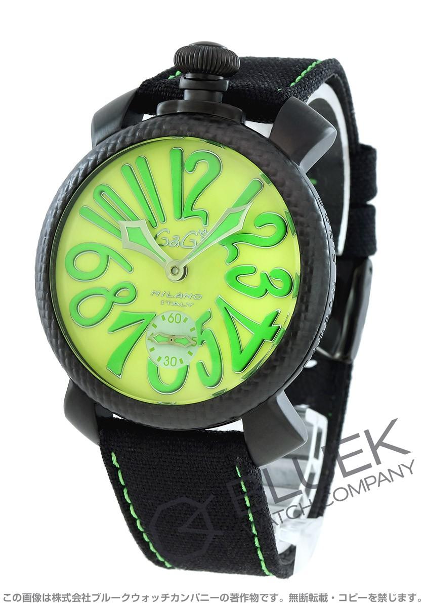 ガガミラノ マヌアーレ48MM 世界限定500本 コーデュラレザー 腕時計 メンズ GaGa MILANO 5016.11S