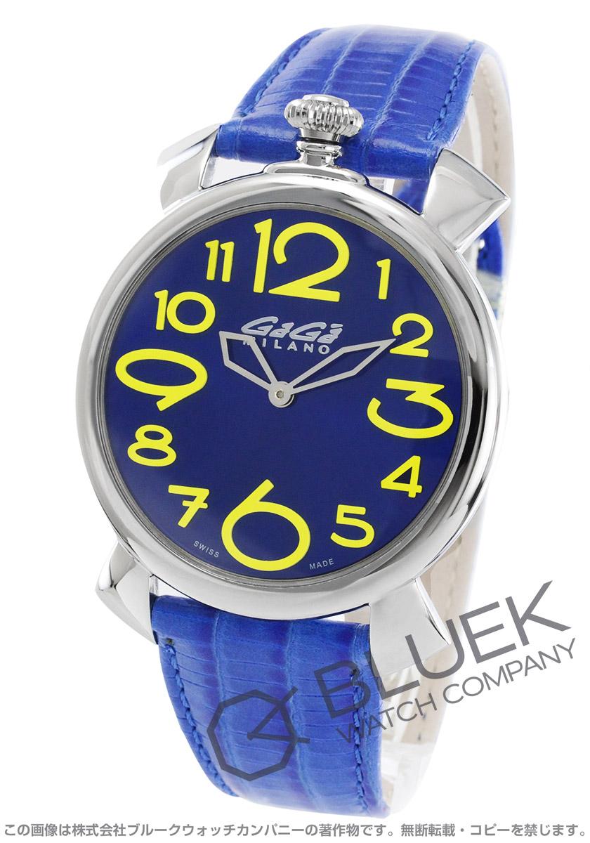 ガガミラノ マヌアーレ シン46MM リザードレザー 腕時計 メンズ GaGa MILANO 5090.09 バーゲン 成人祝い ギフト プレゼント