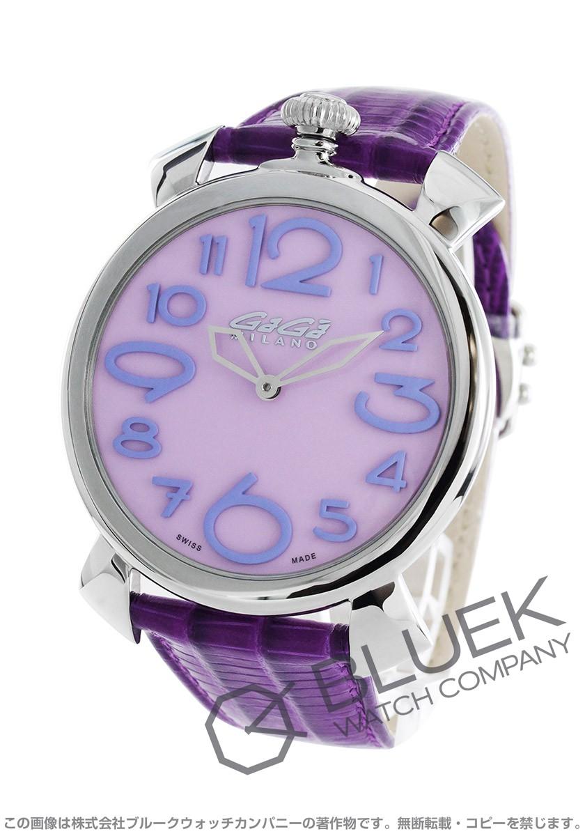 ガガミラノ マヌアーレ シン46MM リザードレザー 腕時計 ユニセックス GaGa MILANO 5090.10