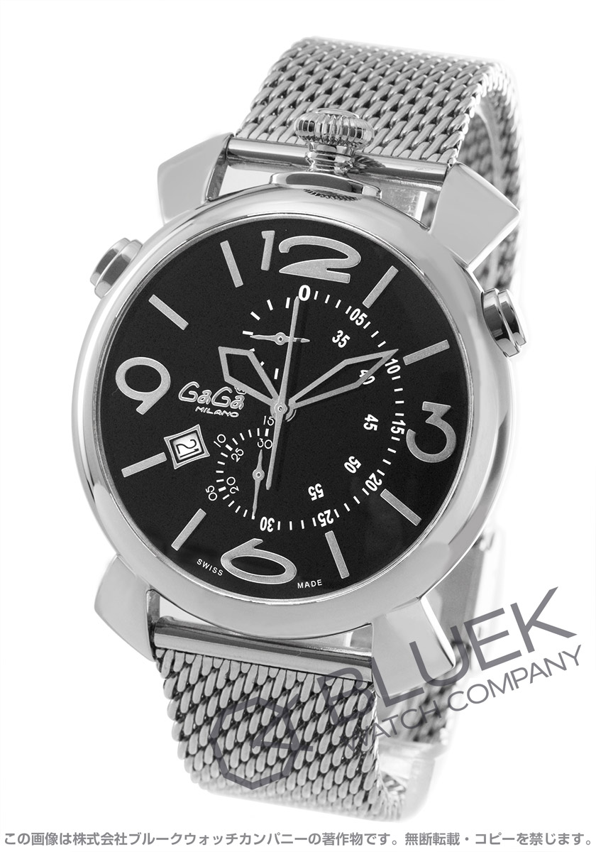 【最大3万円割引クーポン 11/01~】ガガミラノ シン クロノ46MM クロノグラフ 腕時計 メンズ GaGa MILANO 5097.01BR