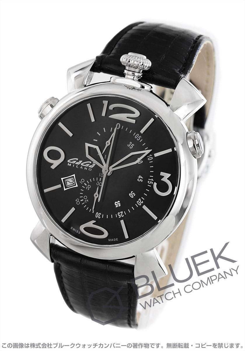 【最大3万円割引クーポン 11/01~】ガガミラノ シン クロノ46MM クロノグラフ 腕時計 メンズ GaGa MILANO 5097.01BK