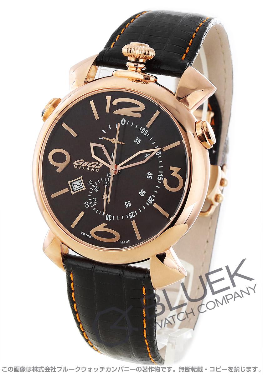 ガガミラノ シン クロノ46MM クロノグラフ 腕時計 メンズ GaGa MILANO 5098.03
