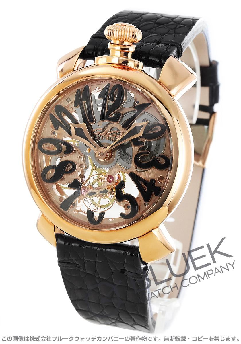 【3,000円OFFクーポン対象】ガガミラノ マヌアーレ48MM スケルトン 腕時計 メンズ GaGa MILANO 5311.02
