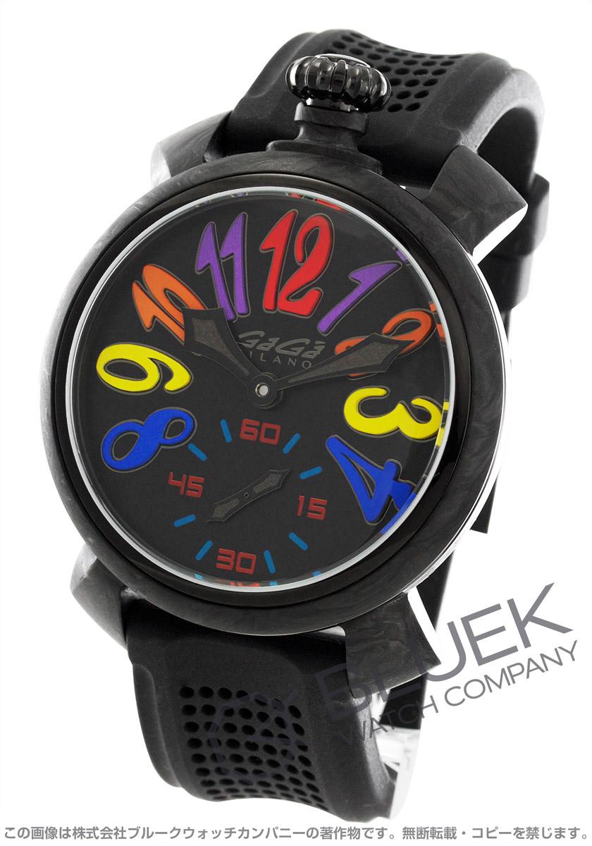 ガガミラノ マヌアーレ48MM カーボン 世界限定300本 腕時計 メンズ GaGa MILANO 6062.02S