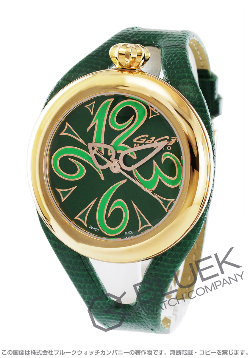 【1,000円OFFクーポン対象】ガガミラノ フラット42MM 腕時計 ユニセックス GaGa MILANO 6071.04