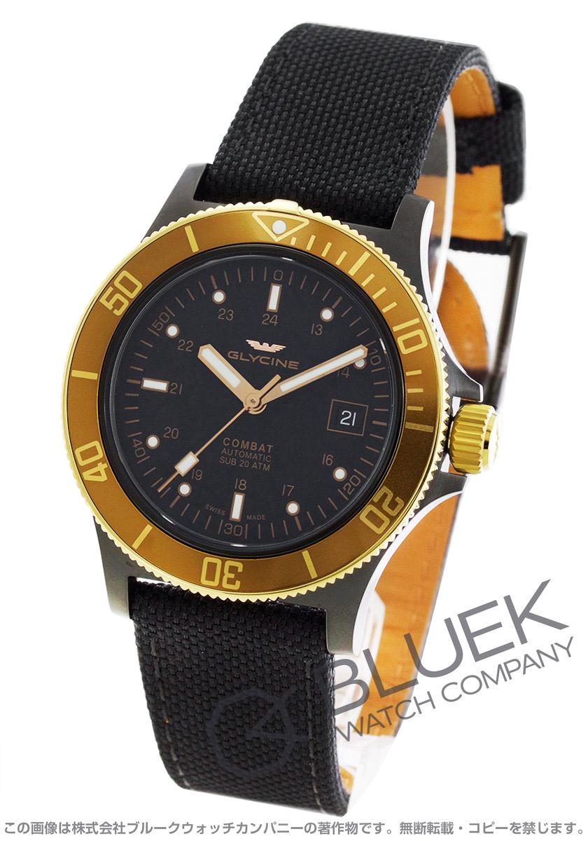 【最大3万円割引クーポン 11/01~】グライシン コンバット サブ キャンパスレザー 腕時計 メンズ GLYCINE GL0093