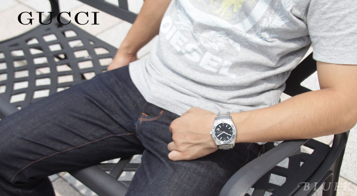 Gucci Pantheon YA115 300 m diver automatic black mens YA115211