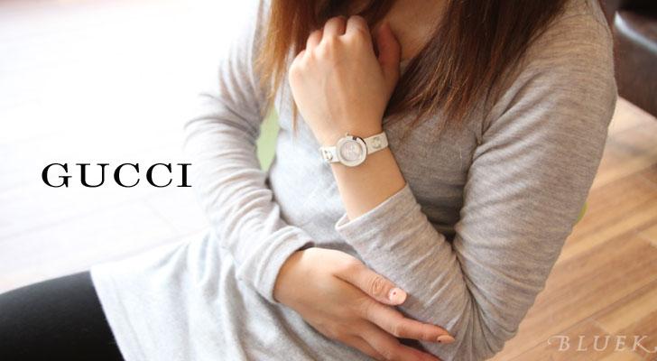 Gucci YA129 you play leather white / silver Lady's YA129509