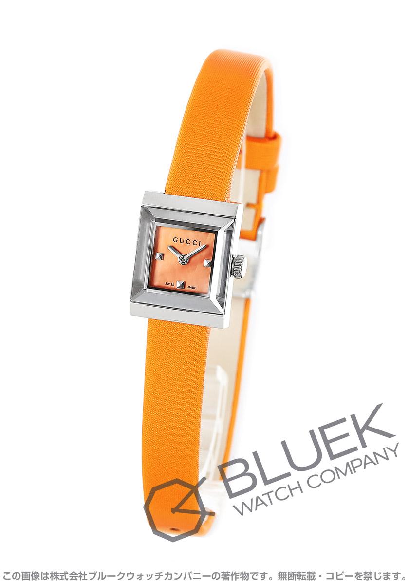 グッチ Gフレーム スクエア サテンレザー 腕時計 レディース GUCCI YA128532