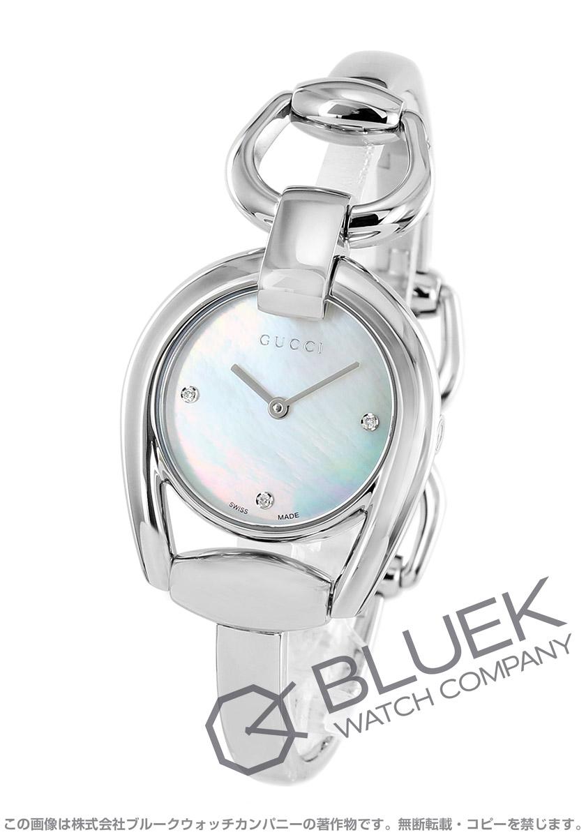 【最大3万円割引クーポン 11/01~】グッチ ホースビット ダイヤ 腕時計 レディース GUCCI YA139506