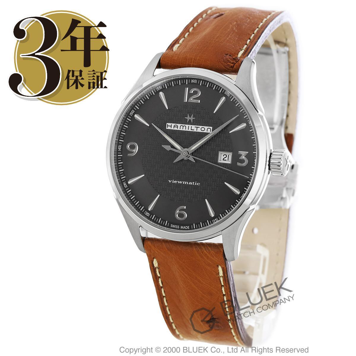 ハミルトン ジャズマスター ビューマチック オーストリッチレザー 腕時計 メンズ HAMILTON H32755851_3