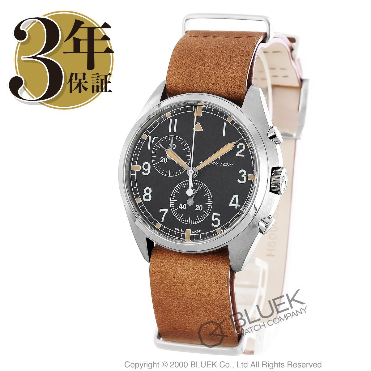 ハミルトン カーキ アビエーション パイロット パイオニア クロノグラフ 腕時計 メンズ HAMILTON H76522531_3