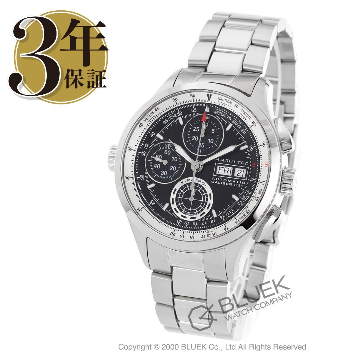 ハミルトン カーキ アビエーション X-パトロール オートクロノ クロノグラフ 腕時計 メンズ HAMILTON H76556131_3
