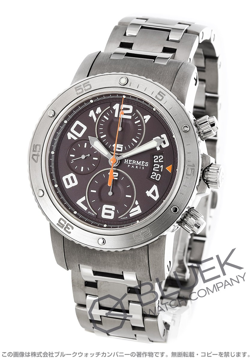 エルメス クリッパー クロノ メカニカル ダイバーズ クロノグラフ 腕時計 メンズ HERMES CP2.941.435/4963