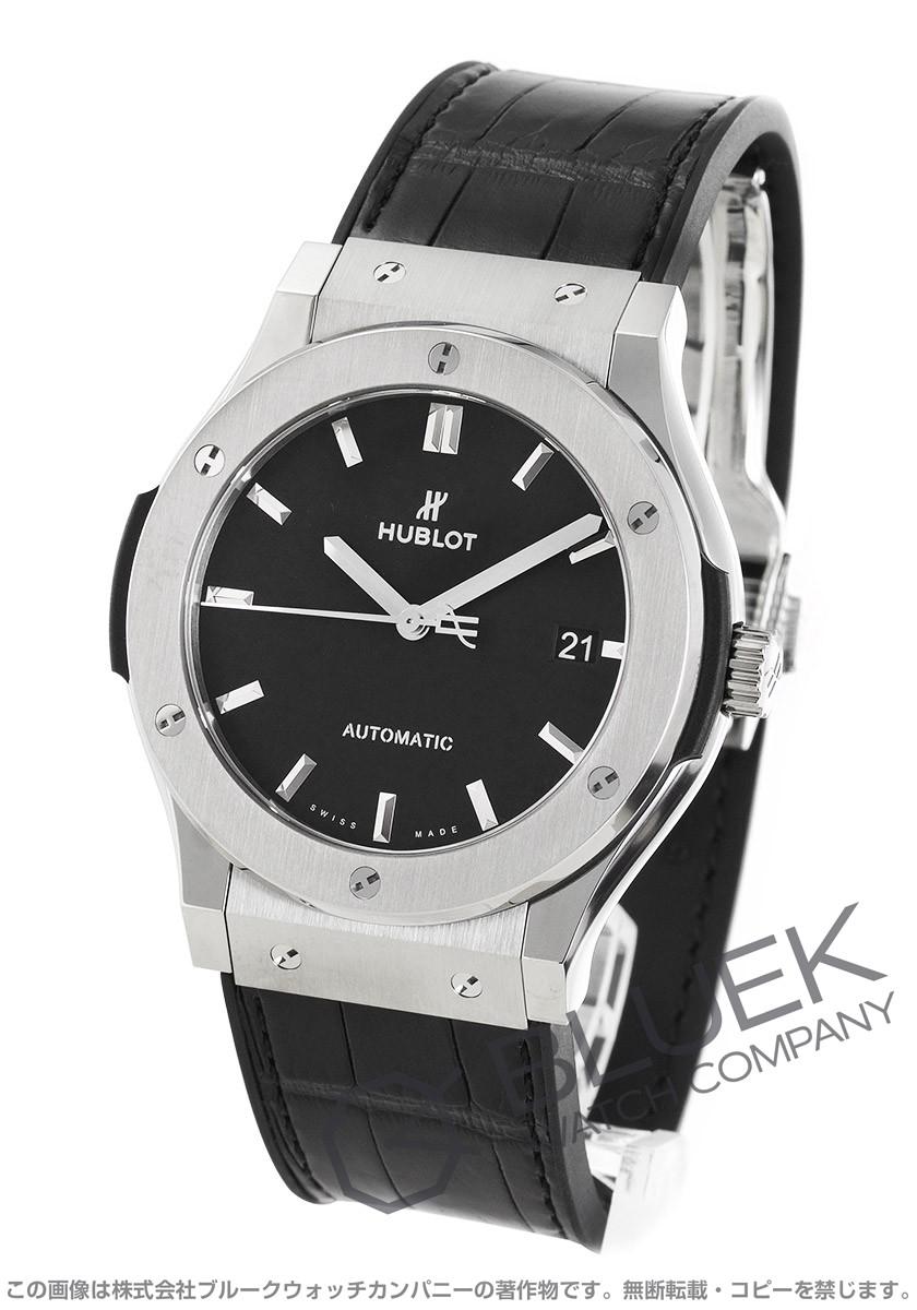 buy popular 75156 7028d ウブロ クラシック フュージョン チタニウム アリゲーターレザー 腕時計 メンズ HUBLOT 511.NX.1171.LR|ブルークウォッチカンパニー
