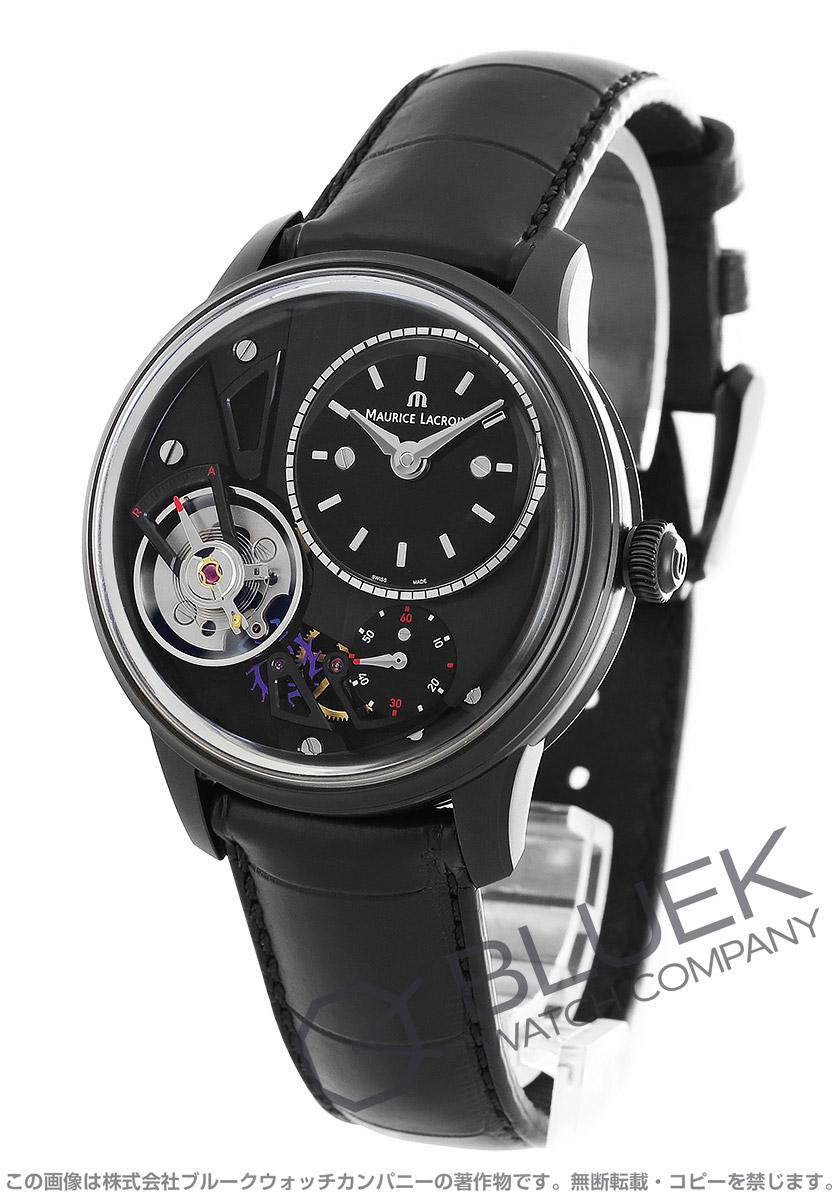 モーリス・ラクロア マスターピース グラビティ 40周年記念モデル 世界限定250本 クロコレザー 腕時計 メンズ MAURICE LACROIX MP6118-PVB01-330
