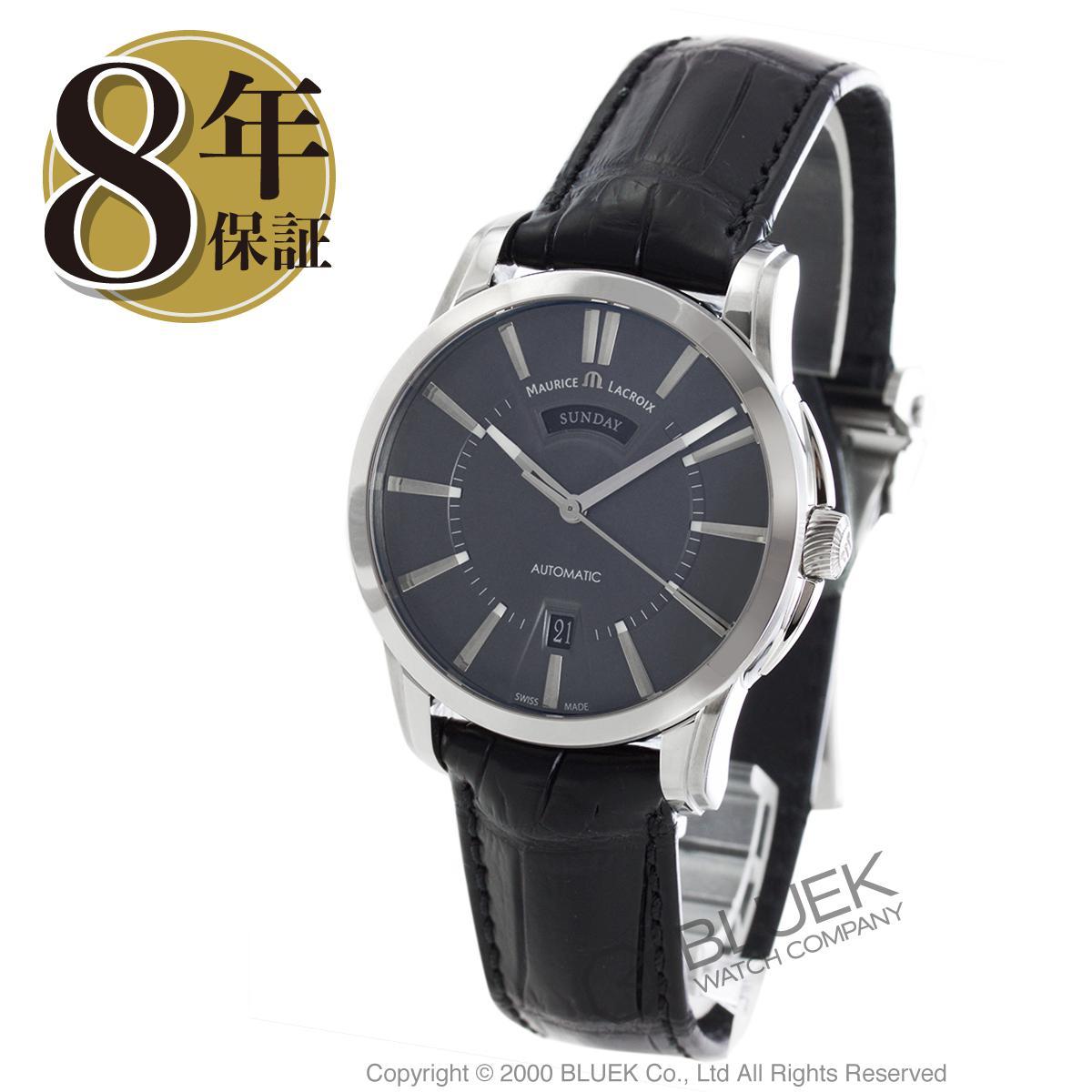 モーリス・ラクロア ポントス デイデイト アリゲーターレザー 腕時計 メンズ MAURICE LACROIX PT6158-SS001-23E_8