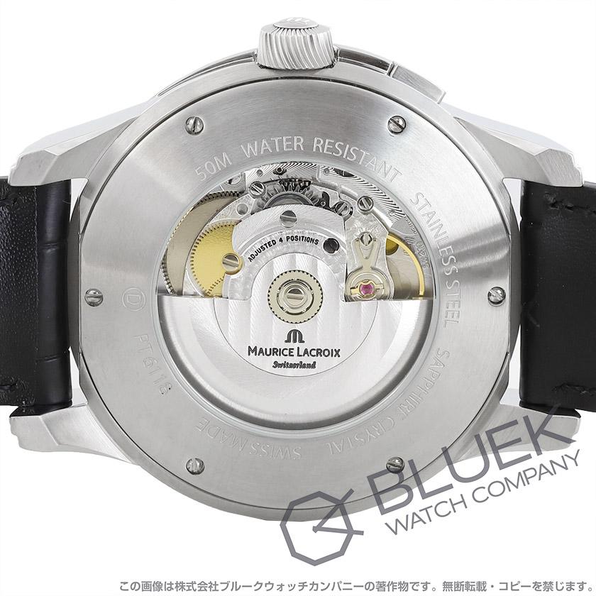 モーリス・ラクロア ポントス オフセンター GMT アリゲーターレザー 腕時計 メンズ MAURICE LACROIX PT6118-SS001-130_8